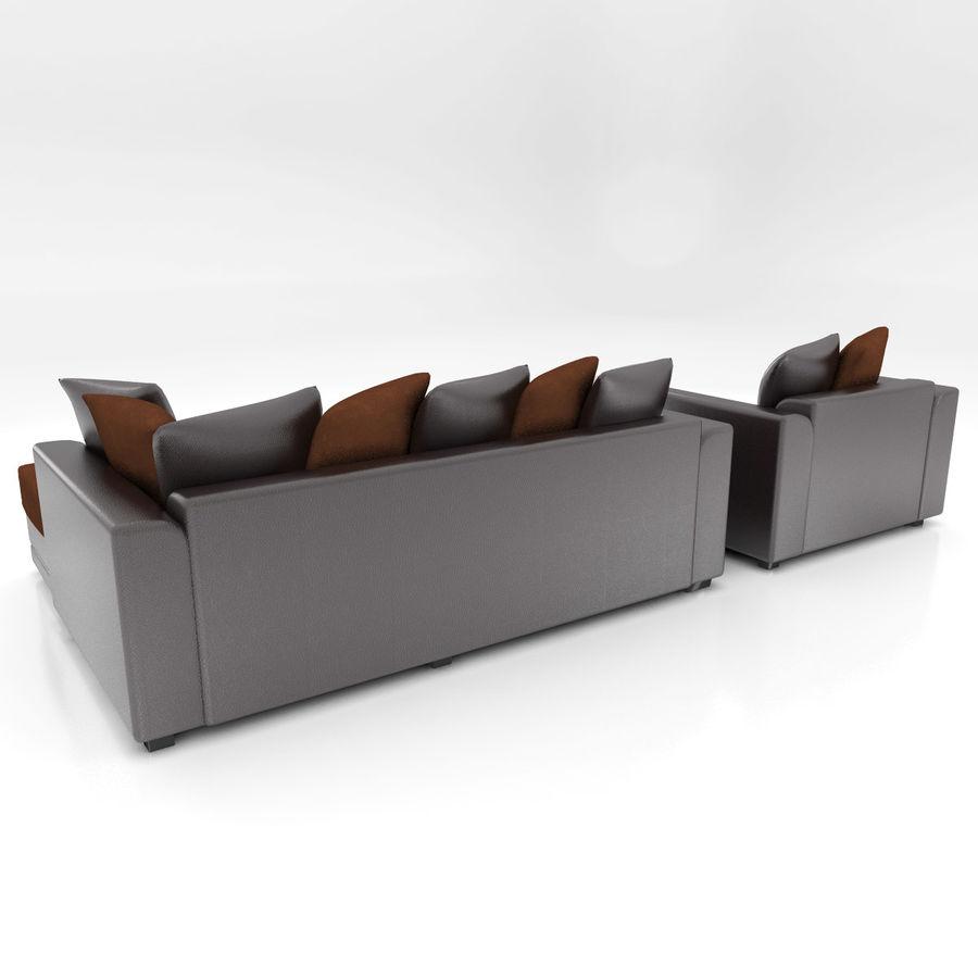 Divano e poltrona royalty-free 3d model - Preview no. 5