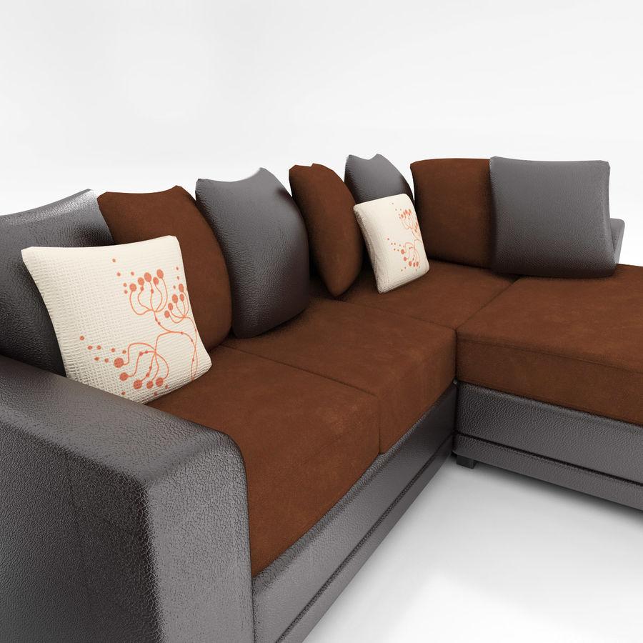 Divano e poltrona royalty-free 3d model - Preview no. 4