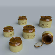 Kitchen canisters 3d model