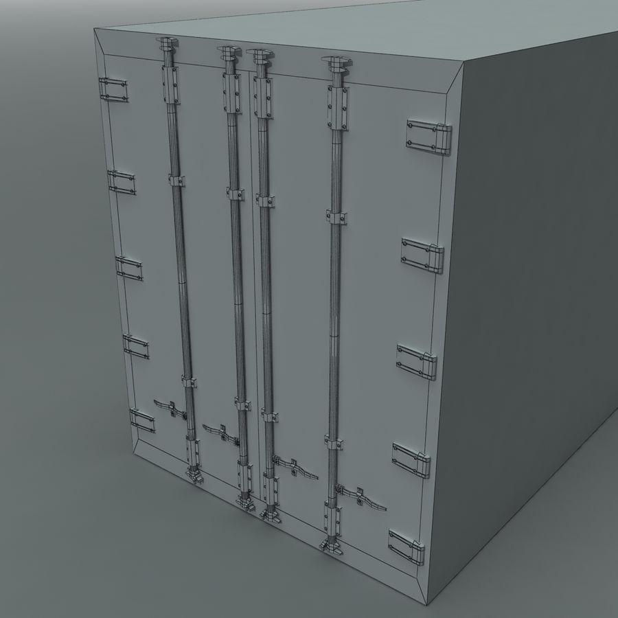 화물 운송 컨테이너 royalty-free 3d model - Preview no. 7