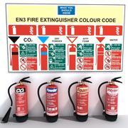 Fire Extinguisher Set 3d model