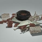 Pila de escombros modelo 3d