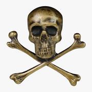 FG Gold Skull 3d model