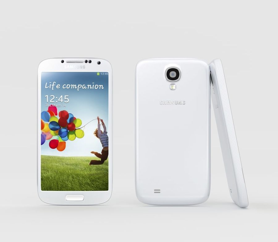 Samsung Galaxy S4 royalty-free 3d model - Preview no. 2
