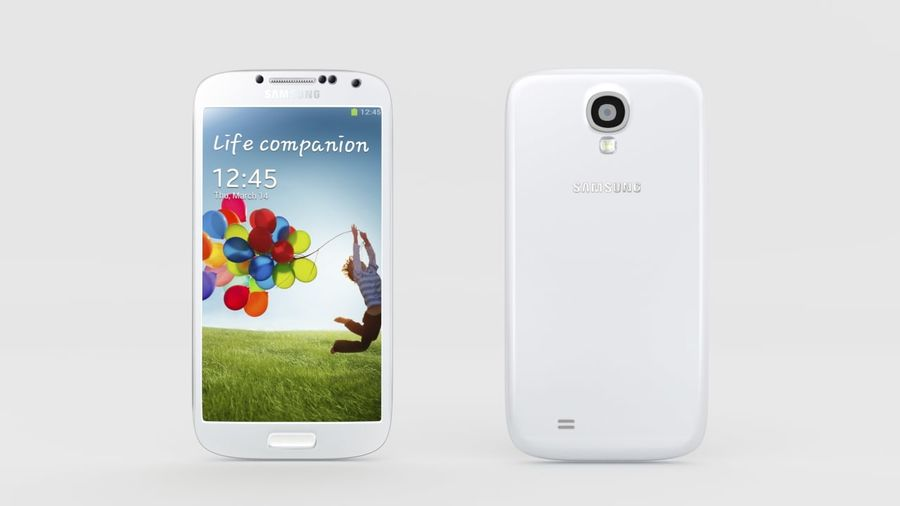 Samsung Galaxy S4 royalty-free 3d model - Preview no. 1