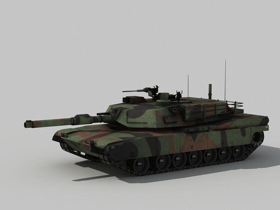 Lowpoly Abrams tank royalty-free 3d model - Preview no. 5