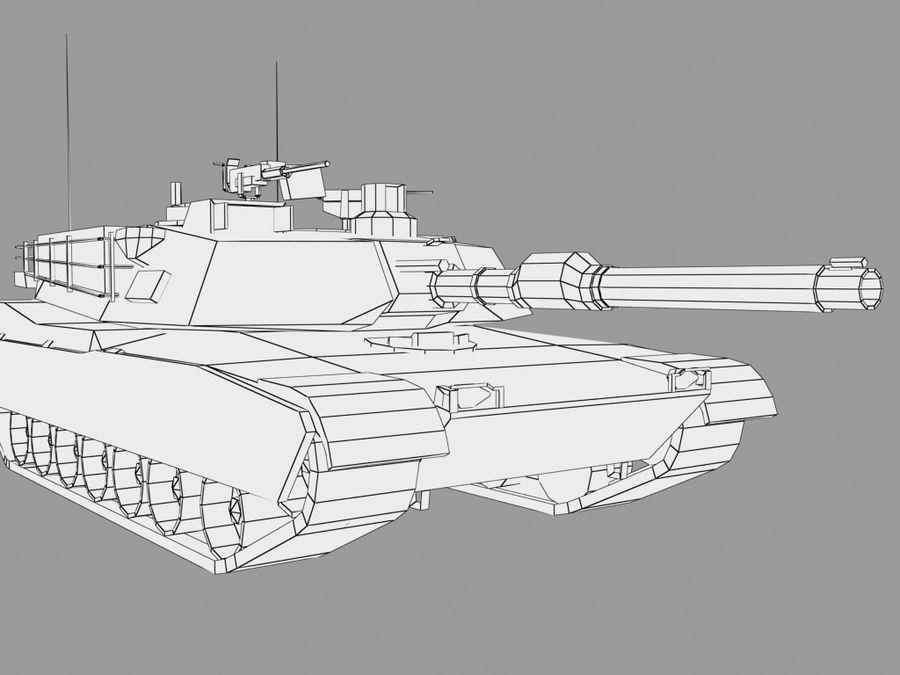 Lowpoly Abrams tank royalty-free 3d model - Preview no. 12