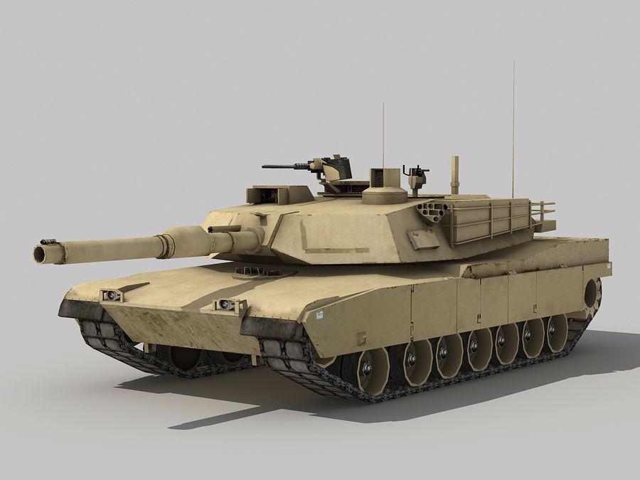 Lowpoly Abrams tank royalty-free 3d model - Preview no. 1