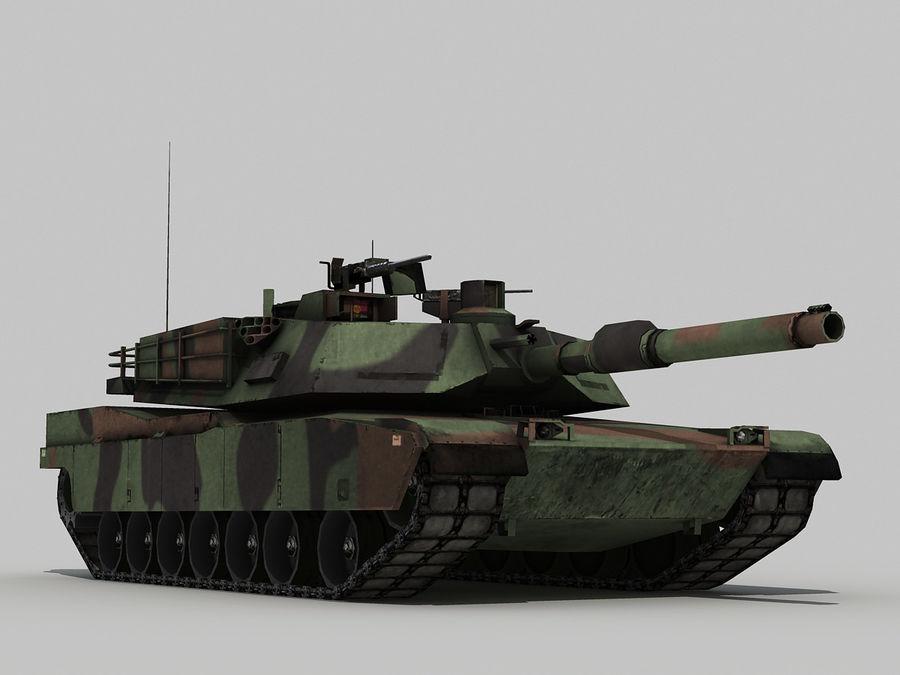 Lowpoly Abrams tank royalty-free 3d model - Preview no. 4