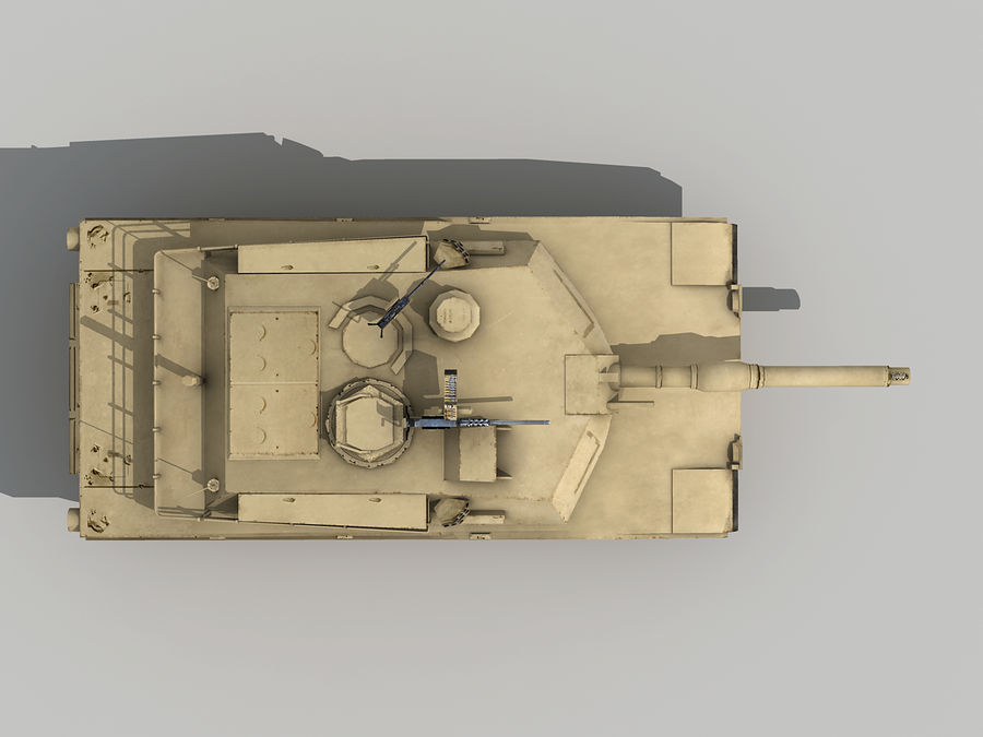 Lowpoly Abrams tank royalty-free 3d model - Preview no. 6