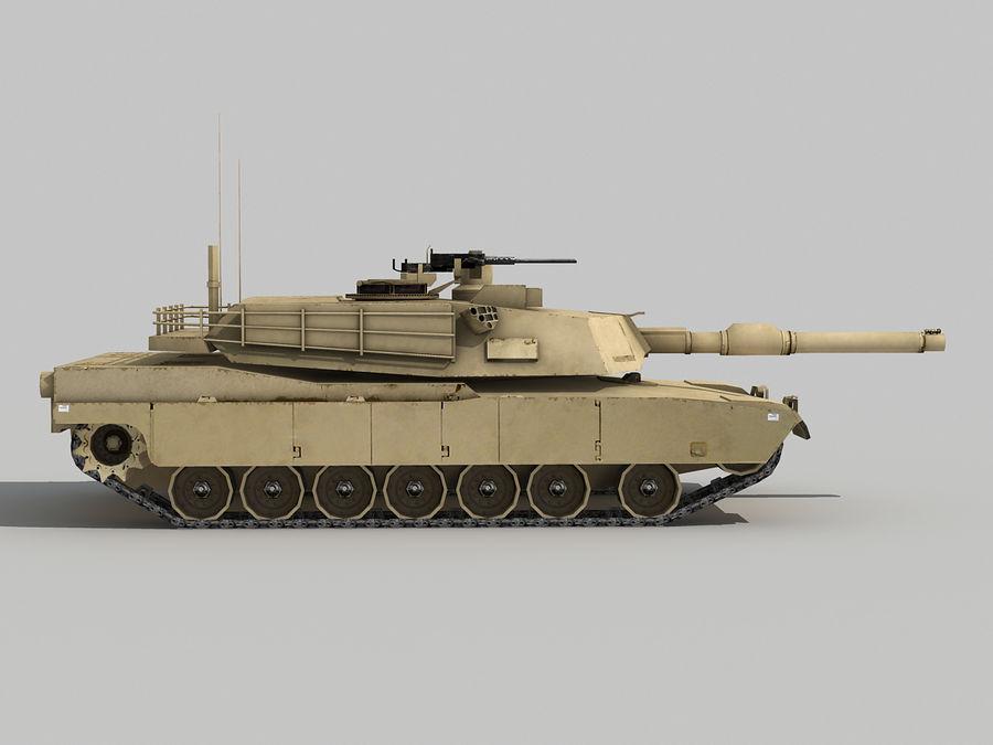 Lowpoly Abrams tank royalty-free 3d model - Preview no. 7