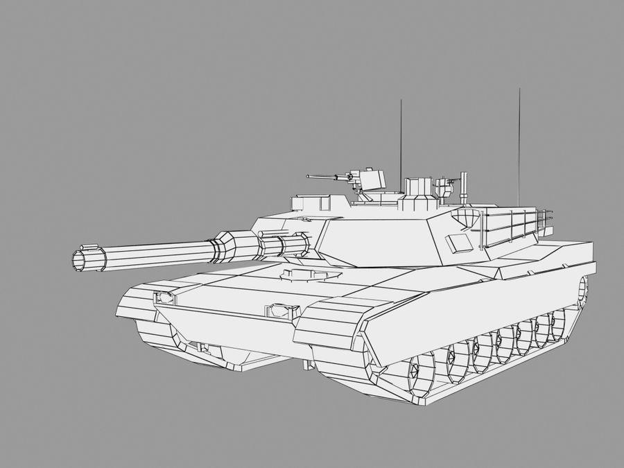 Lowpoly Abrams tank royalty-free 3d model - Preview no. 13