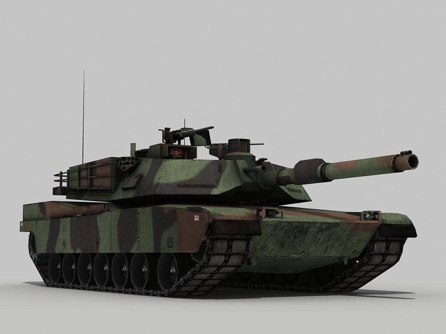 Lowpoly Abrams tank royalty-free 3d model - Preview no. 2