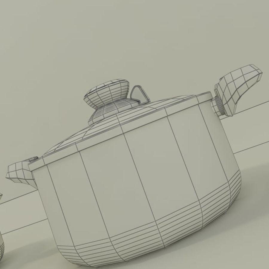 3 Pot pan cook royalty-free 3d model - Preview no. 4