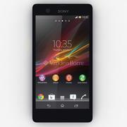 索尼Xperia Z黑色 3d model