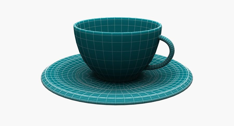 Kaffeetasse royalty-free 3d model - Preview no. 10
