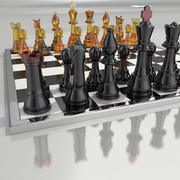 Шахматное стекло 3d model