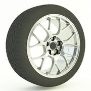 Car Alloy & Tyre 3d model