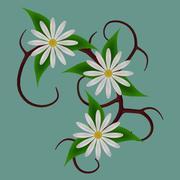 FG Vine Flowers 01 3d model