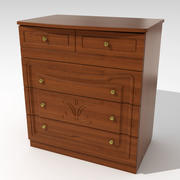 Chest of drawers 03 3d model