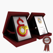 award plaque 3d model