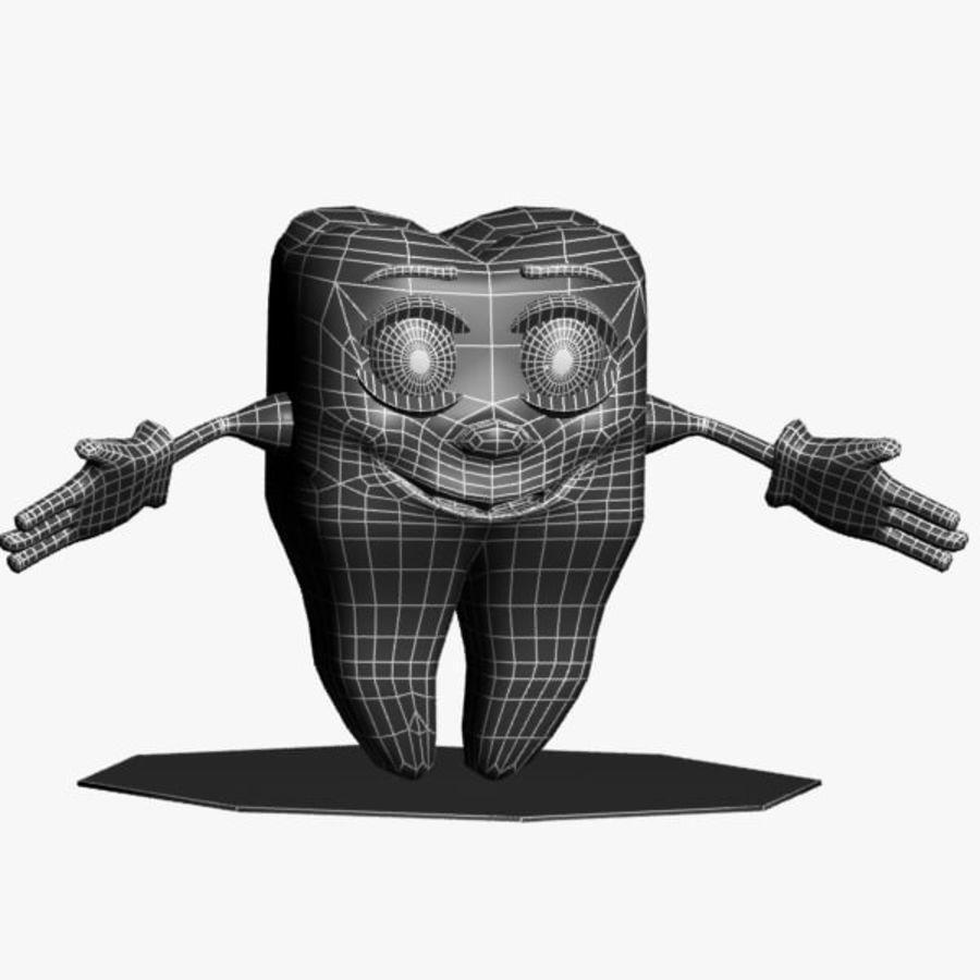 Diş karakter royalty-free 3d model - Preview no. 10