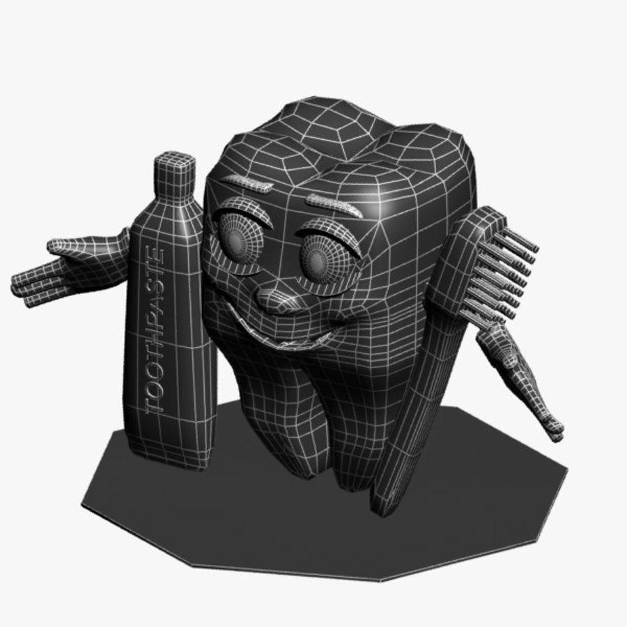 Diş karakter royalty-free 3d model - Preview no. 7
