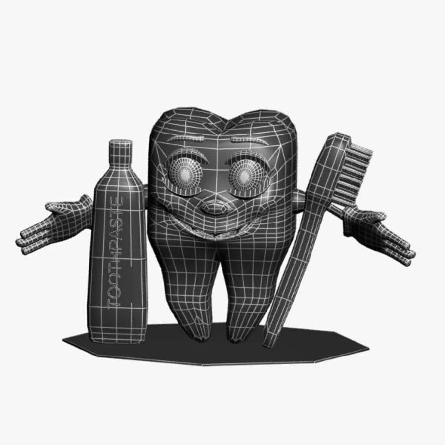 Diş karakter royalty-free 3d model - Preview no. 8