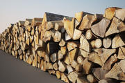 Houten Log stapel 3d model