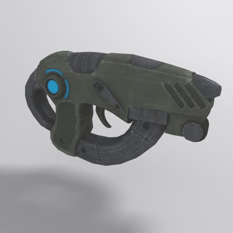 Sci-fi Assault Rifle royalty-free 3d model - Preview no. 2