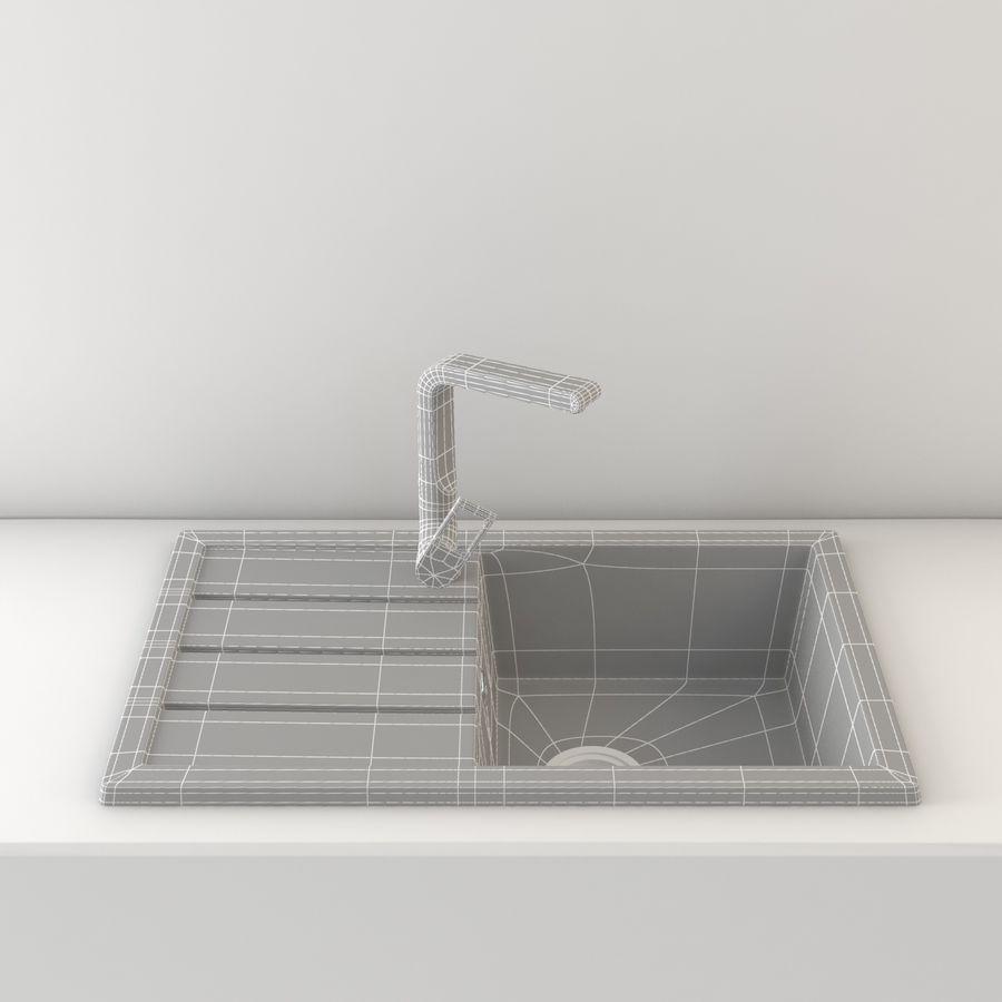 Lavello Da Cucina Con Rubinetto royalty-free 3d model - Preview no. 7