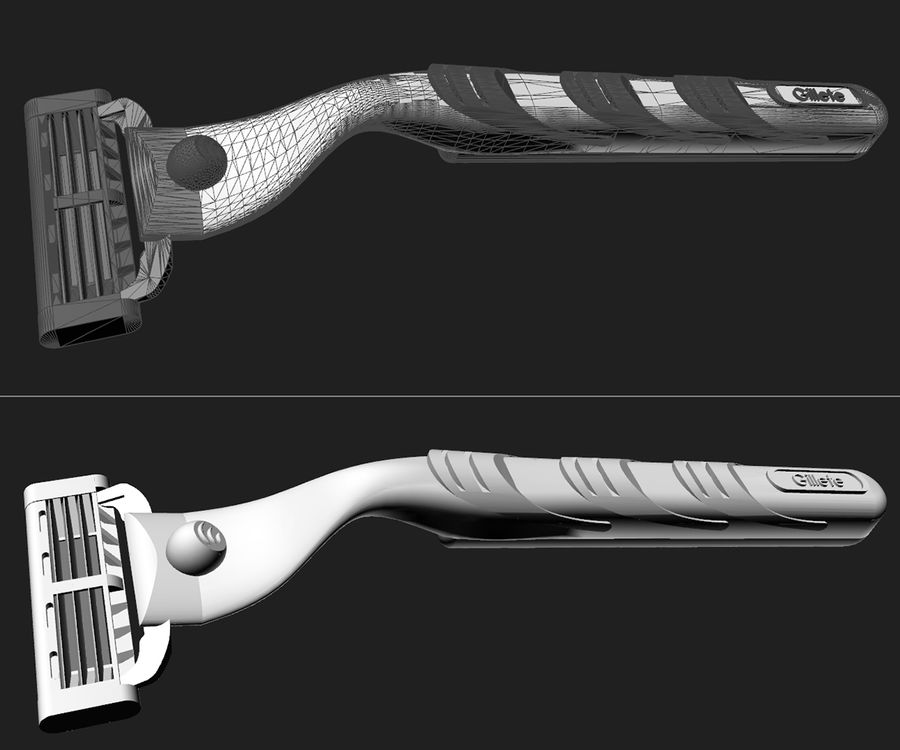 Gillette set royalty-free 3d model - Preview no. 6