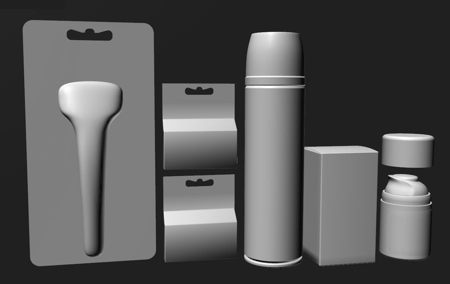 Gillette set royalty-free 3d model - Preview no. 5