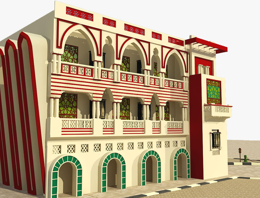 Building Architectural Islamic royalty-free 3d model - Preview no. 3