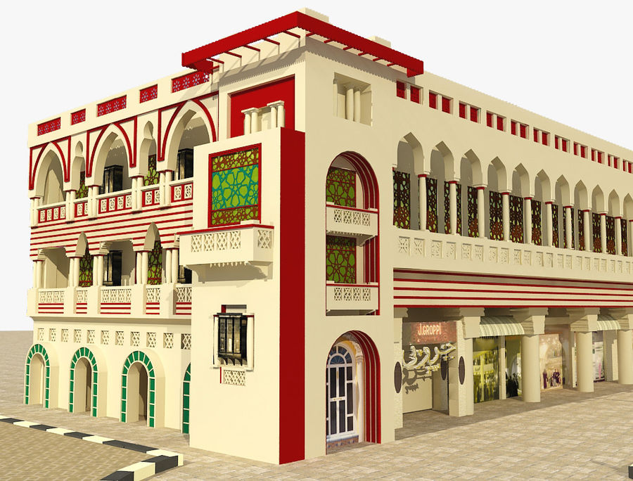 Building Architectural Islamic royalty-free 3d model - Preview no. 5