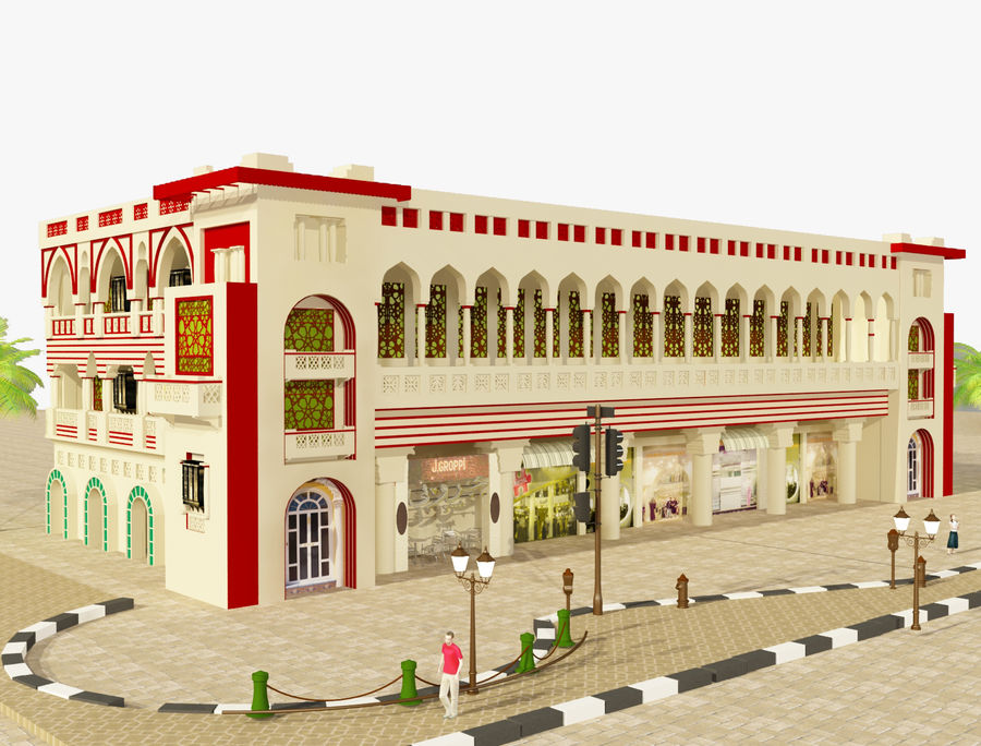 Building Architectural Islamic royalty-free 3d model - Preview no. 1