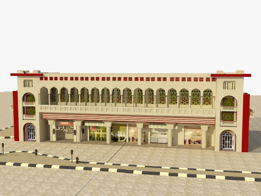 Building Architectural Islamic royalty-free 3d model - Preview no. 6