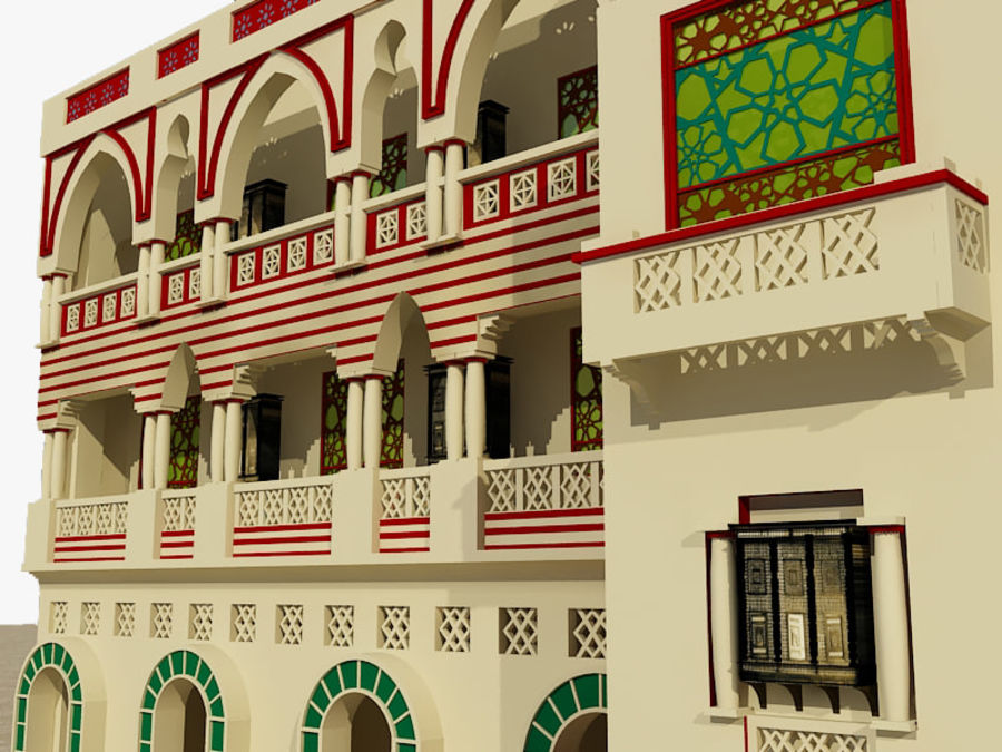 Building Architectural Islamic royalty-free 3d model - Preview no. 2