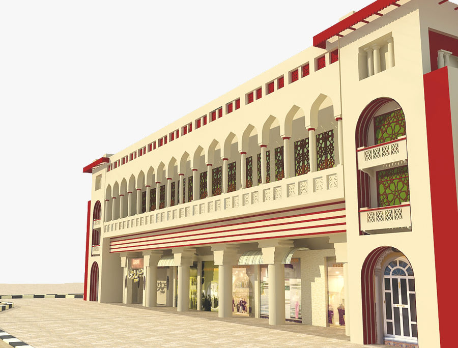 Building Architectural Islamic royalty-free 3d model - Preview no. 4