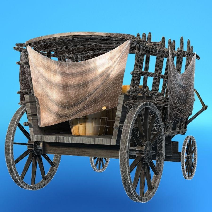 carrozza royalty-free 3d model - Preview no. 6