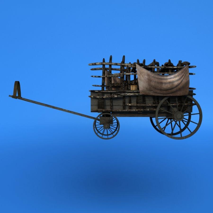carrozza royalty-free 3d model - Preview no. 1