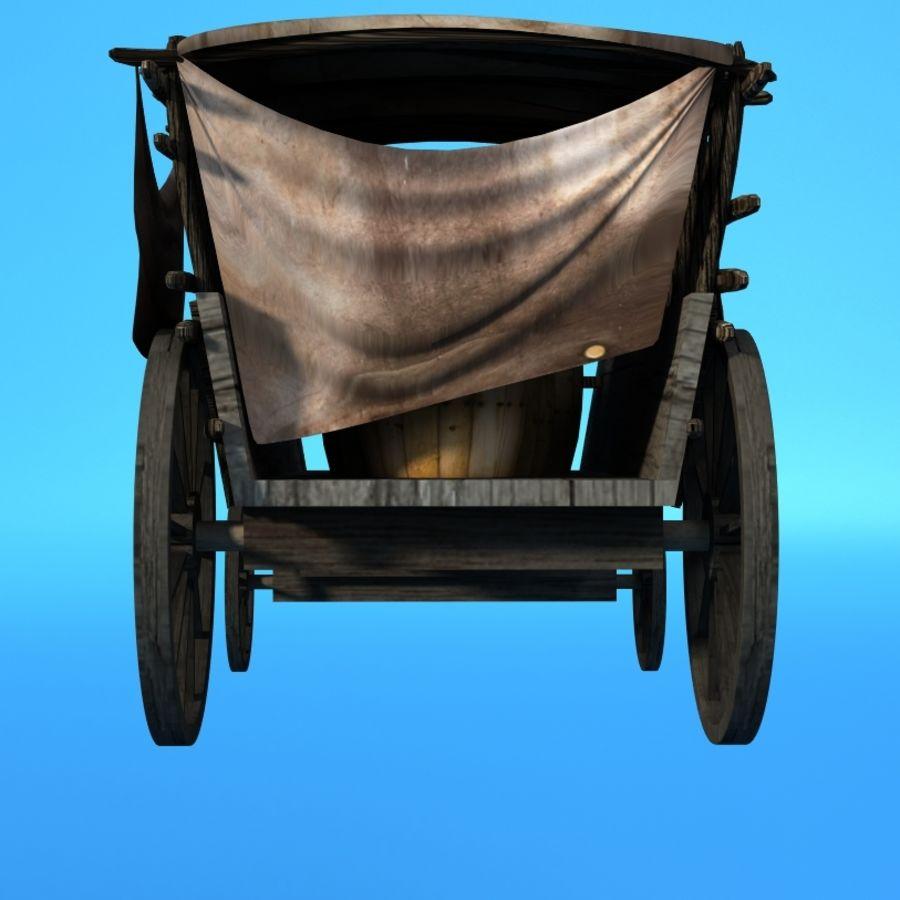 carrozza royalty-free 3d model - Preview no. 3