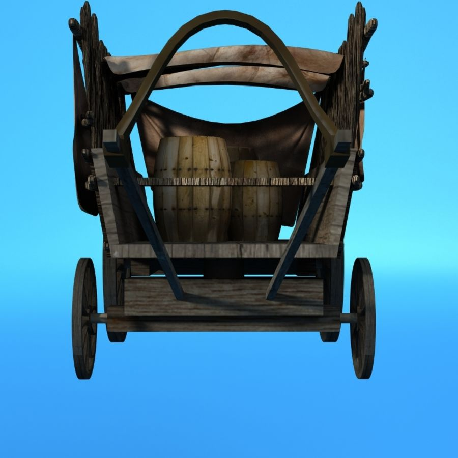 carrozza royalty-free 3d model - Preview no. 2