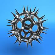 radiolarian 3d model