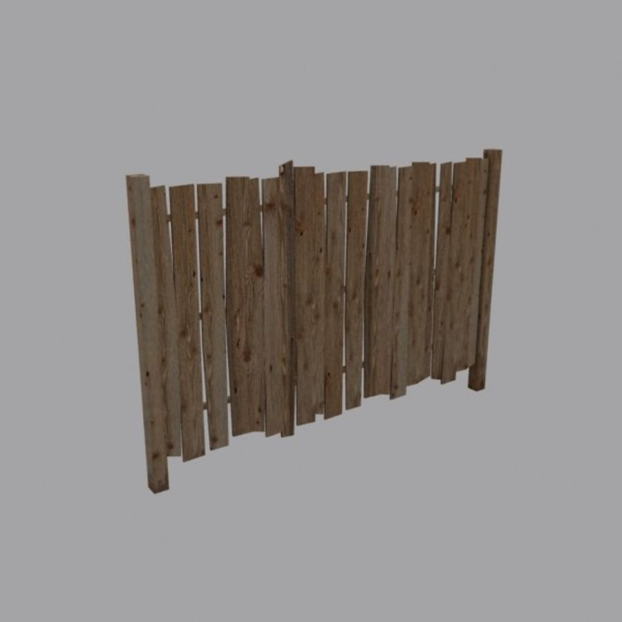 Recinzione in legno royalty-free 3d model - Preview no. 1