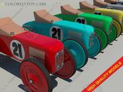 Färgad leksaksbil 3d model