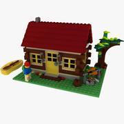 Lego Log Cabin Set 5766 3d model