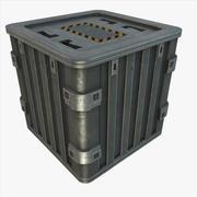 Metal Crate 02 3d model