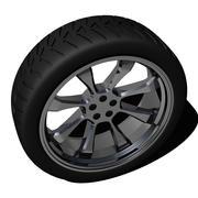 タイヤとリム 3d model