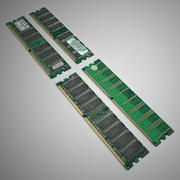 512MB memory chips x 2 3d model